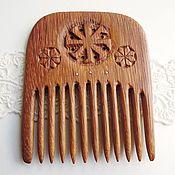 Сувениры и подарки ручной работы. Ярмарка Мастеров - ручная работа Гребень Ладинец, деревянный резной, красное дерево. Handmade.