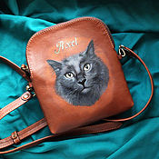 "Сумки и аксессуары handmade. Livemaster - original item Leather bag ""AXEL"". Handmade."
