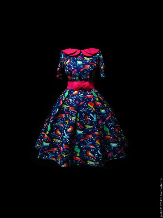 """Платья ручной работы. Ярмарка Мастеров - ручная работа. Купить Платье """"Весенние птицы"""". Handmade. Рисунок, купить платье, платье"""
