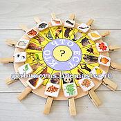 Куклы и игрушки handmade. Livemaster - original item Who Eats What? with clothespins Educational game. Handmade.