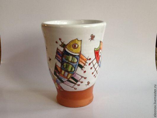 Бокалы, стаканы ручной работы. Ярмарка Мастеров - ручная работа. Купить Бокал для сока. Handmade. Разноцветный, стакан ручной работы