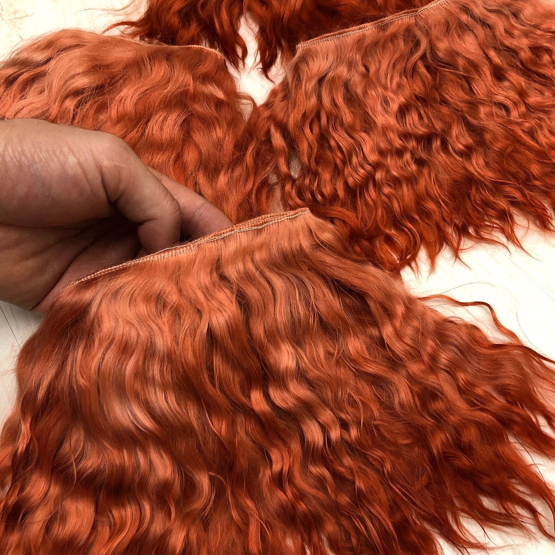 Мохеровые Трессы для кукольных волос, Куклы Тильда, Москва,  Фото №1