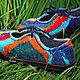 """Обувь ручной работы. Ярмарка Мастеров - ручная работа. Купить Туфли валяные """"Цветотерапия"""". Handmade. Красный, обувь ручной работы"""