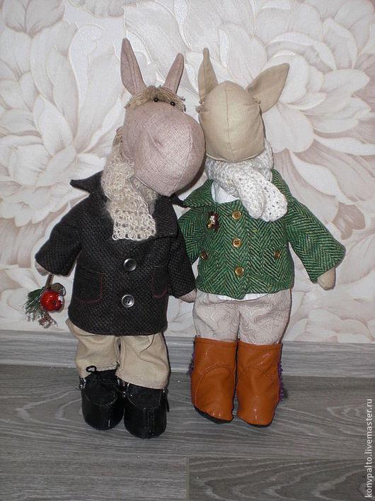 Куклы Тильды ручной работы. Ярмарка Мастеров - ручная работа. Купить Конь в пальто. Handmade. Бежевый, интерьерная игрушка