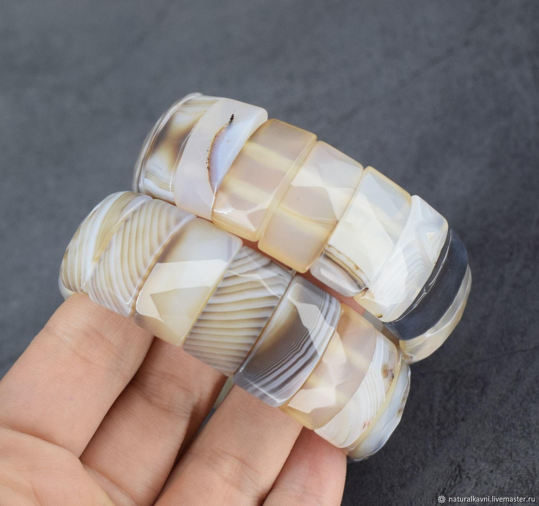 Natural Brazilian agate bracelet. Bracelet agate, Bead bracelet, Moscow,  Фото №1