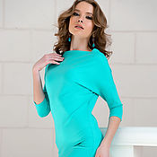 Одежда handmade. Livemaster - original item Dress mint green. Handmade.