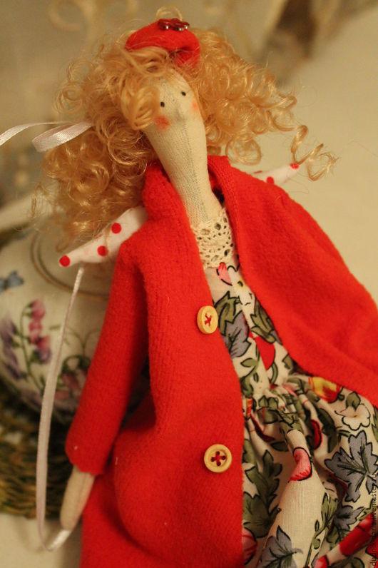 """Куклы Тильды ручной работы. Ярмарка Мастеров - ручная работа. Купить """"Девушка в красном"""". Handmade. Комбинированный, кукла интерьерная, тильда"""