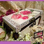 Для дома и интерьера ручной работы. Ярмарка Мастеров - ручная работа розы в кружеве. Handmade.