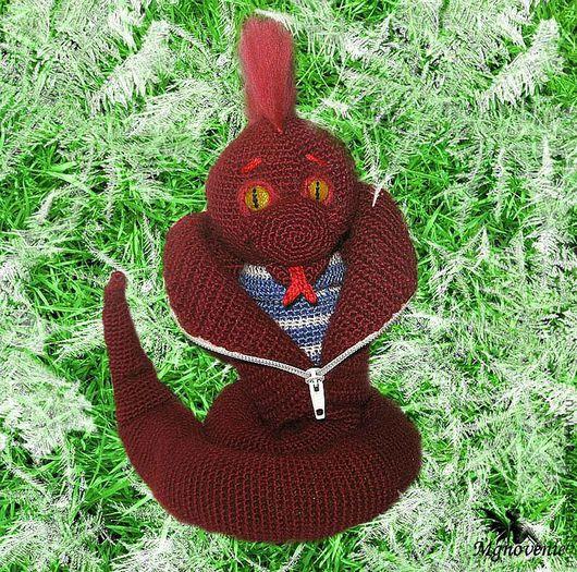 Игрушки животные, ручной работы. Ярмарка Мастеров - ручная работа. Купить Змея -символ 2013 года. Handmade. Ярко-красный