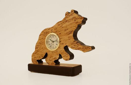 """Часы для дома ручной работы. Ярмарка Мастеров - ручная работа. Купить Часы настольные """"Медведь"""". Handmade. Часы, часы в подарок"""