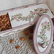 """Для дома и интерьера ручной работы. Ярмарка Мастеров - ручная работа набор для кухни """"Нежные розочки"""". Handmade."""