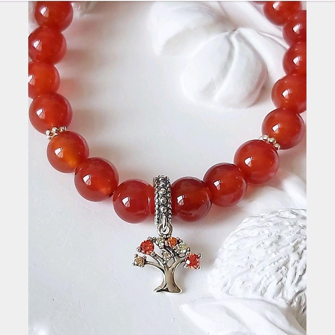 Bracelet 'Family tree', carnelian, silver, Bead bracelet, Moscow,  Фото №1