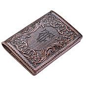 Канцелярские товары handmade. Livemaster - original item Cover for documents with unique ornament. Handmade.
