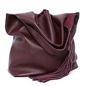 Сумки и аксессуары handmade. Livemaster - original item Popper Bag leather burgundy-Shoulder Bag shoulder bag-T-shirt Bag. Handmade.
