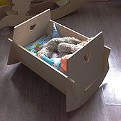 Куклы и игрушки ручной работы. Ярмарка Мастеров - ручная работа Кроватка для куклы.. Handmade.