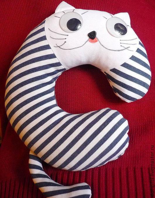 Текстиль, ковры ручной работы. Ярмарка Мастеров - ручная работа. Купить Котик для шеи. Handmade. Синий, трикотаж, кот, подарок