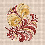 """Материалы для творчества handmade. Livemaster - original item Дизайн машинной вышивка """"Хохлома бордюр"""" bt076. Handmade."""