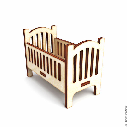 Куклы и игрушки ручной работы. Ярмарка Мастеров - ручная работа. Купить КНМ-0000030 Детская кроватка. Handmade. Заготовки для творчества
