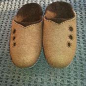 Обувь ручной работы. Ярмарка Мастеров - ручная работа Валяные тапочки - шлепки. Handmade.