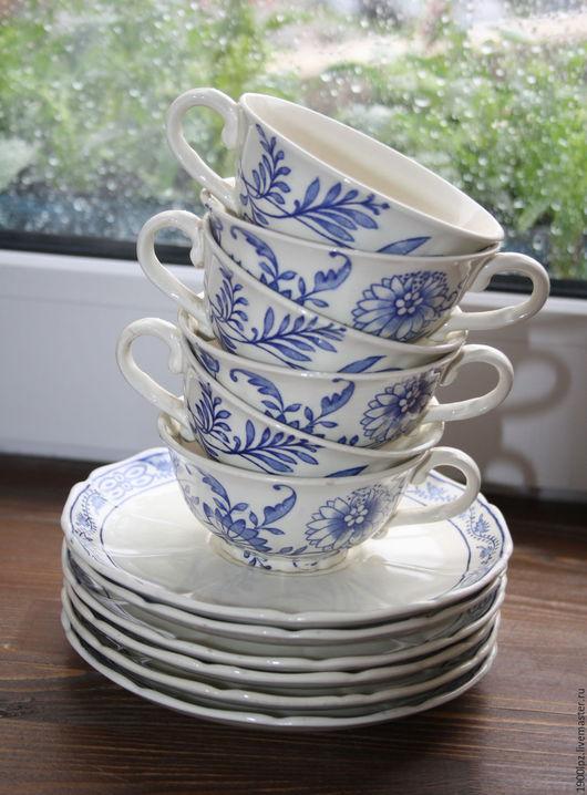 Винтажная посуда. Ярмарка Мастеров - ручная работа. Купить Старинные кофейные пары, 4 шт.. Handmade. Белый, старый буфет