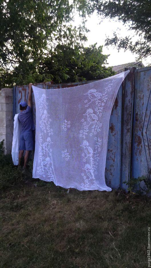 """Текстиль, ковры ручной работы. Ярмарка Мастеров - ручная работа. Купить Вязаные шторы.. крючком. """" Летнее утро.."""". Handmade."""