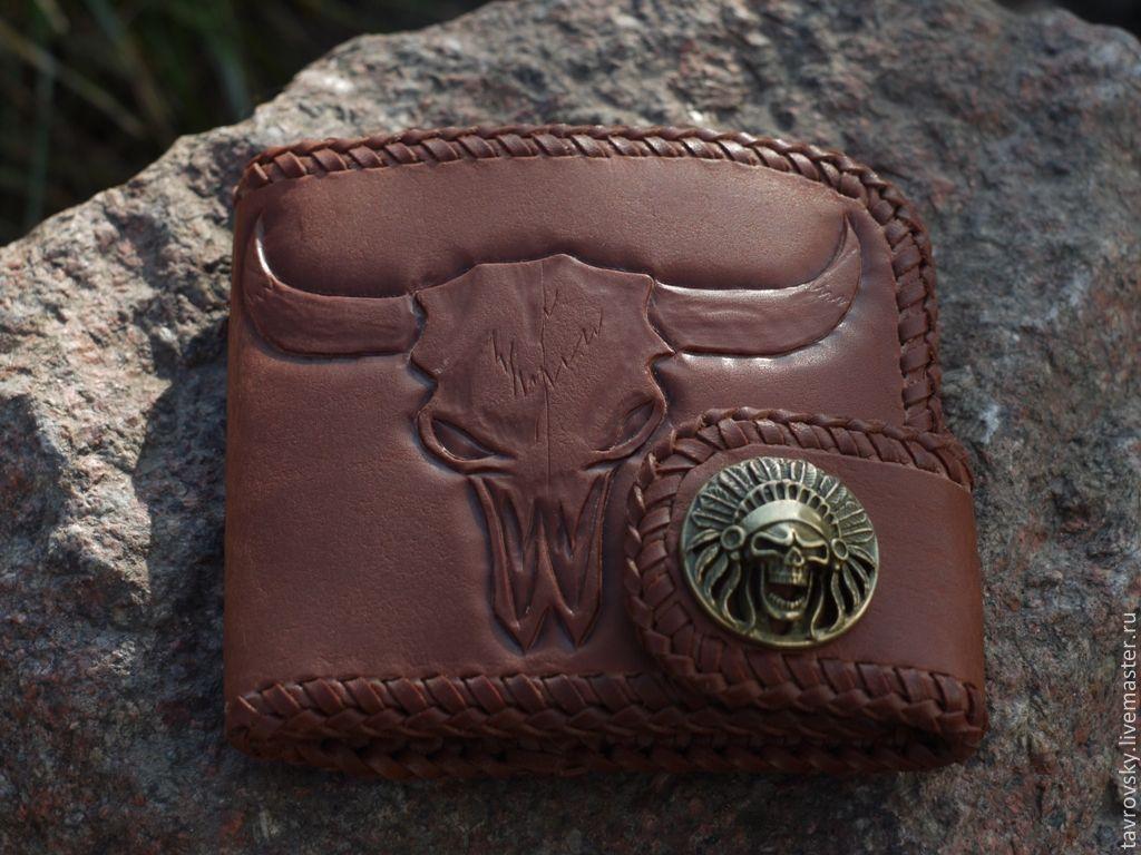 """Бумажник """"Buffalo skull wallet"""", Кошельки, Тверь, Фото №1"""
