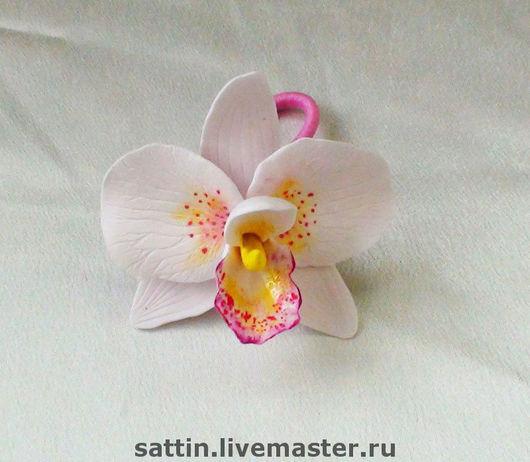 Заколки ручной работы. Ярмарка Мастеров - ручная работа. Купить Орхидея - резинка для волос. Handmade. Резинка для волос, заколка с цветами