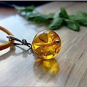 "Украшения handmade. Livemaster - original item Янтарь. Кулон ""Апельсинчик-мини"" янтарь серебро. Handmade."