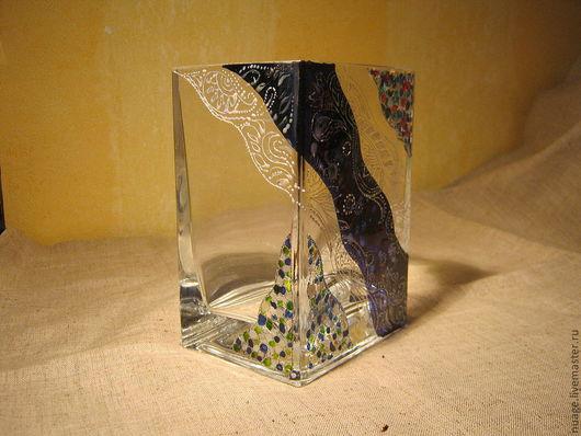Вазы ручной работы. Ярмарка Мастеров - ручная работа. Купить декоративная ваза Зимняя эллегия. Handmade. Ваза, Декор, подарок