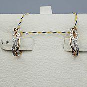 Украшения handmade. Livemaster - original item Gold diamond earrings 0,253 ct. Handmade.
