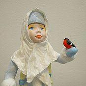 Куклы и игрушки ручной работы. Ярмарка Мастеров - ручная работа Снегурочка под ёлку. Ватная игрушка.. Handmade.