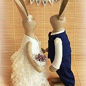 Куклы и игрушки ручной работы. Ярмарка Мастеров - ручная работа Свадебные зайцы Тильда. Handmade.