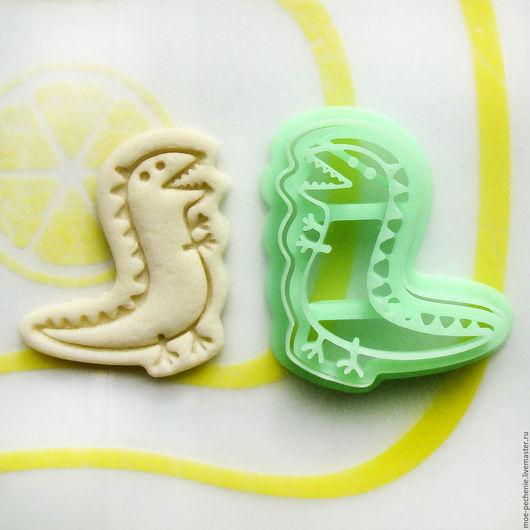 Динозаврик. Вырубка и штамп для печенья, мастики, пряников, поделок из соленого теста.