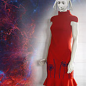 Одежда ручной работы. Ярмарка Мастеров - ручная работа Платье Космея. Handmade.