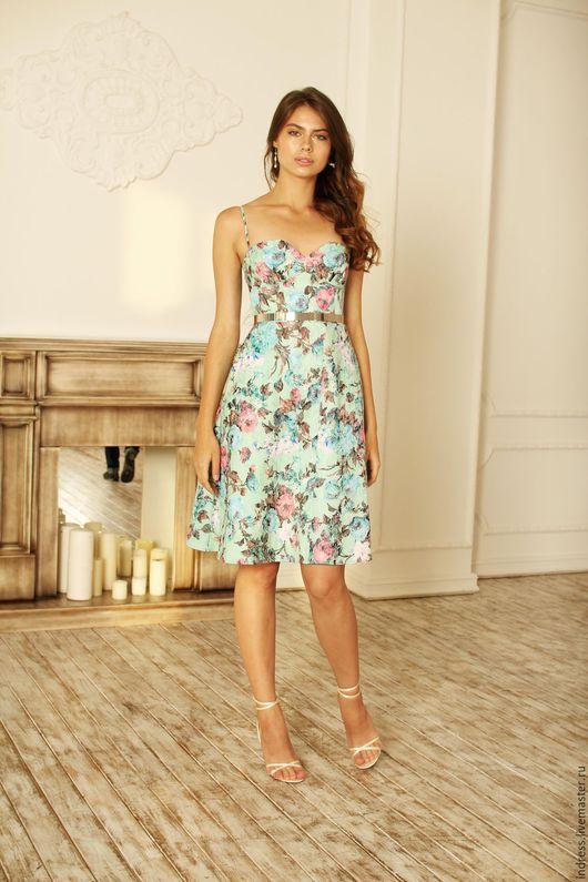 """Платья ручной работы. Ярмарка Мастеров - ручная работа. Купить Платье """"Garden"""". Handmade. Комбинированный, купить платье в москве"""