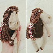 Куклы и игрушки ручной работы. Ярмарка Мастеров - ручная работа Вязанная лошадка. Handmade.