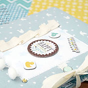 Подарки к праздникам ручной работы. Ярмарка Мастеров - ручная работа Бэбибук Альбом для малыша. Handmade.