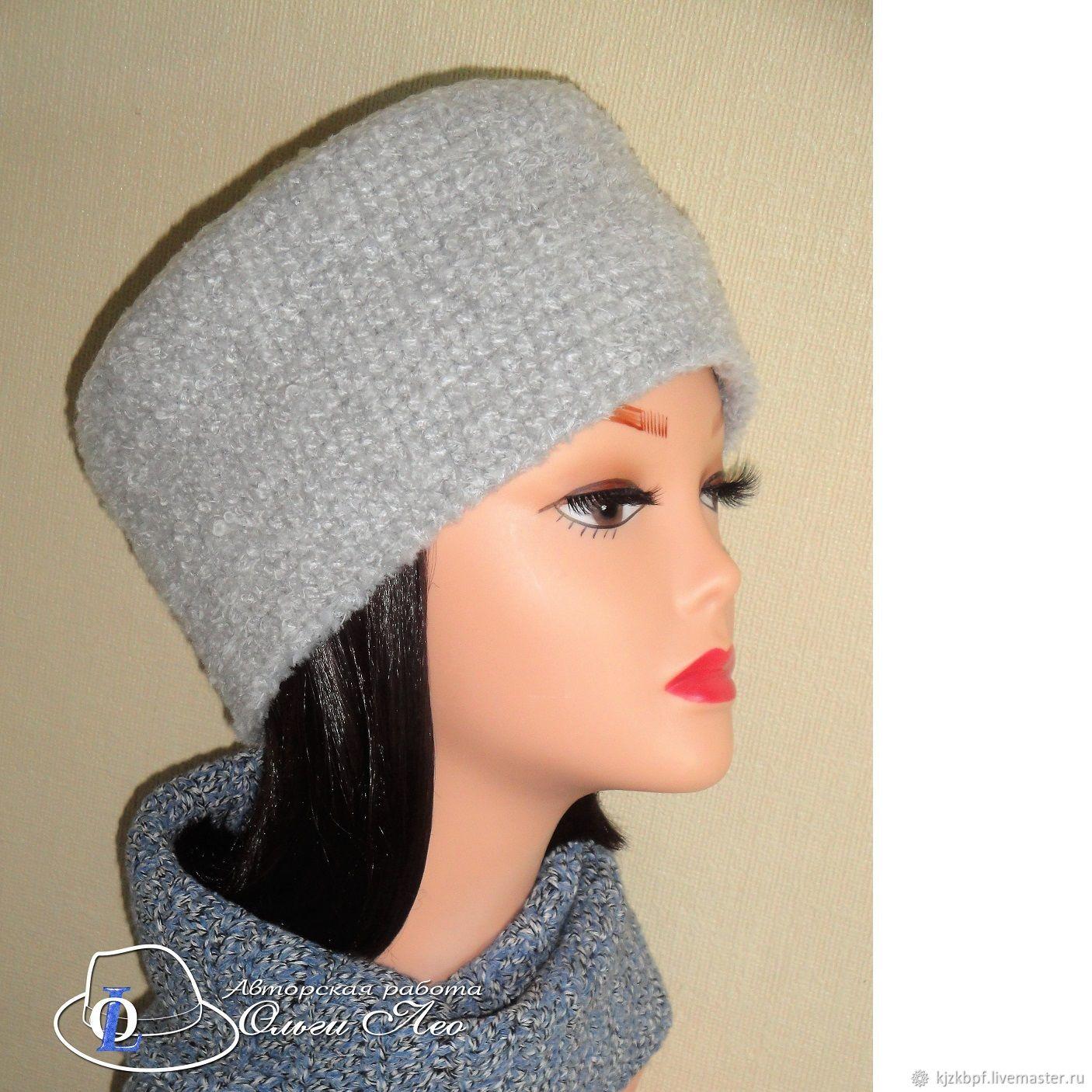 вязаная шапка кубанка элина купить в интернет магазине на ярмарке