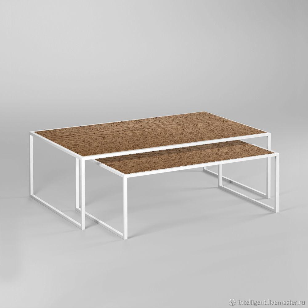 Мебель ручной работы. Ярмарка Мастеров - ручная работа. Купить Комплект журнальных столов Set 1 white темный дуб. Handmade.