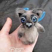 Куклы и игрушки ручной работы. Ярмарка Мастеров - ручная работа Котёнок тайской породы. Handmade.