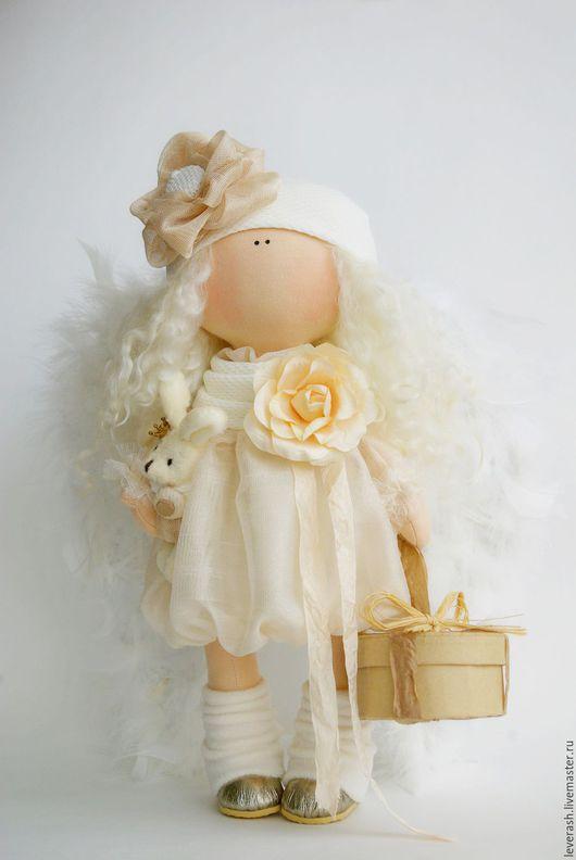 Коллекционные куклы ручной работы. Ярмарка Мастеров - ручная работа. Купить Ангел. Рождественский ангел.. Handmade. Золотой, текстильная игрушка