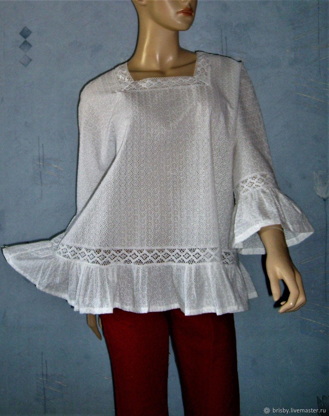 be4c3ec6435 Blouses handmade. Livemaster - handmade. Buy Blouse stitching white lace.