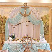 """Свадебный салон ручной работы. Ярмарка Мастеров - ручная работа """"Связанные морским узлом"""" декор зала. Handmade."""