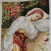 """Картины и панно ручной работы. Ярмарка Мастеров - ручная работа """"Девушка с лебедем"""". Handmade."""
