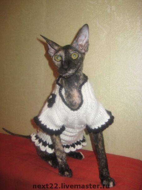 Одежда для кошек, ручной работы. Ярмарка Мастеров - ручная работа. Купить Платье в стиле Шанель. Handmade. Одежда для кошек