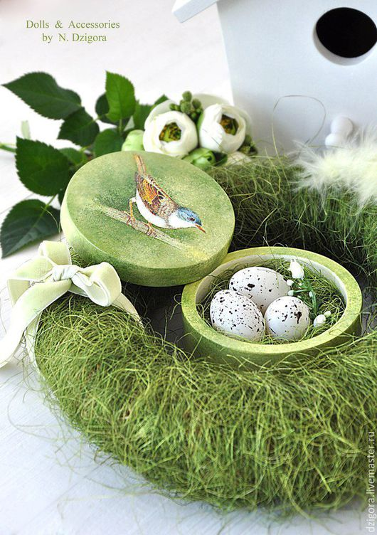 Игрушки животные, ручной работы. Ярмарка Мастеров - ручная работа. Купить Весенний кролик Mr. Green. Handmade. Заяц, гнездо