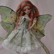 "Куклы и игрушки handmade. Livemaster - original item Porcelain ball jointed doll ""Moon moth"". Handmade."