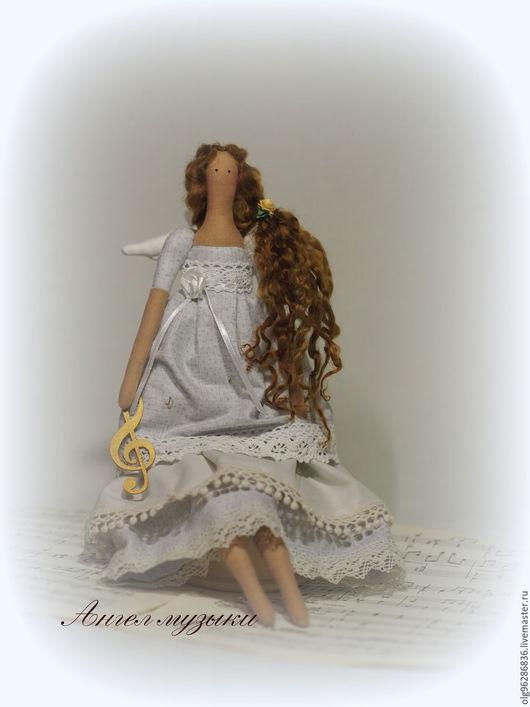 """Куклы Тильды ручной работы. Ярмарка Мастеров - ручная работа. Купить Тильда """"Ангел Музыки"""". Handmade. Музыка, хлопок 100%"""