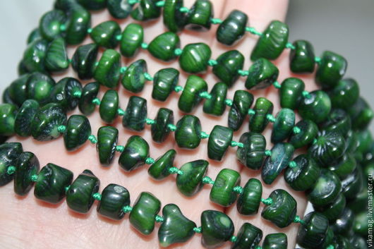 Для украшений ручной работы. Ярмарка Мастеров - ручная работа. Купить Коралл натуральный зеленый. Handmade. Зеленый, кораллы