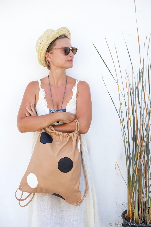 Рюкзак кожаный в горошек Michiko, Рюкзаки, Санкт-Петербург,  Фото №1